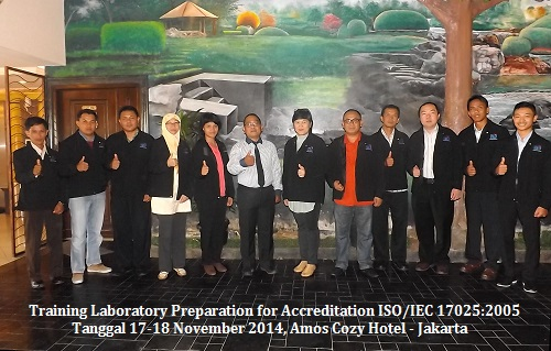 Training ISO 17025 – Laboratory Preparation for ISO/IEC 17025:2005 (SNI ISO/IEC 17025:2008) Accreditation (11-12 Januari 2018 Jakarta)
