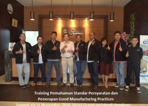 Training GMP – Pemahaman Standar Persyaratan dan Penerapan Good Manufacturing Practices (5-6 Oktober 2017 Jakarta)