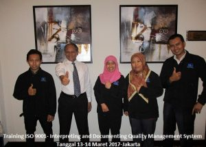 Training ISO 9001:2015 Interpreting and Documenting Quality Management System (30-31 Oktober 2017 Jakarta)