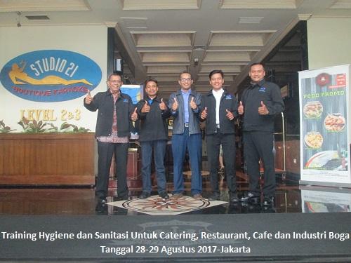 Training Hygiene dan Sanitasi Untuk Catering, Restaurant, Cafe dan Industri Boga (Running: 12-13 Maret 2018 Jakarta)