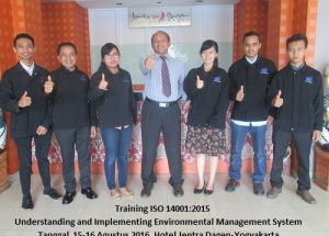 Training ISO 14001:2015 – Understanding and Implementing Environmental Management System (23-24 Agustus 2018  Bandung)