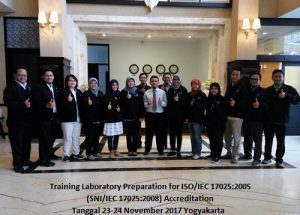 Training ISO 17025 – Laboratory Preparation for ISO/IEC 17025:2017 Accreditation (15-16 Agustus 2018  Yogyakarta)